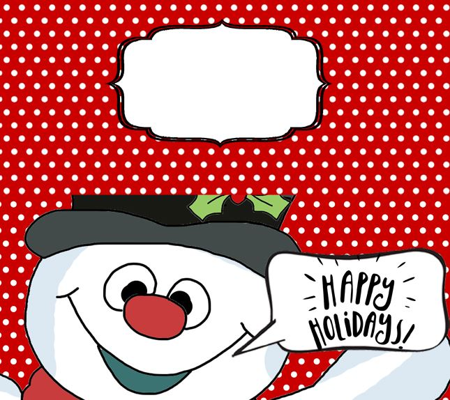 Treat Toppers - Bag Toppers Template - Snowman