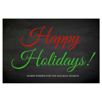 Happy Holidays Colored Printable