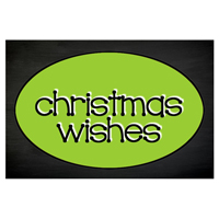 Christmas Wishes Chalkboard Tag