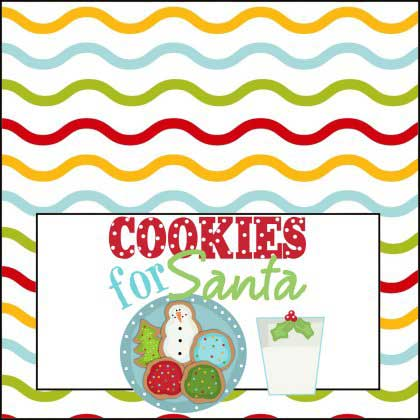 Cookies for Santa with Milk Printable Sign - NorthPoleChristmas.com