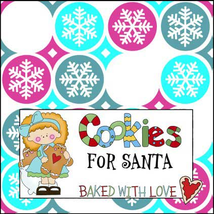 Christmas Cookie Sign - Santa's Cookies & Milk Sign - NorthPoleChristmas.com