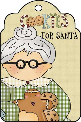 Mrs. Claus Printable Sign - Cookies For Santa Sign - NorthPoleChristmas.com