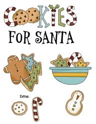Cookies For Santa Sign Graphics