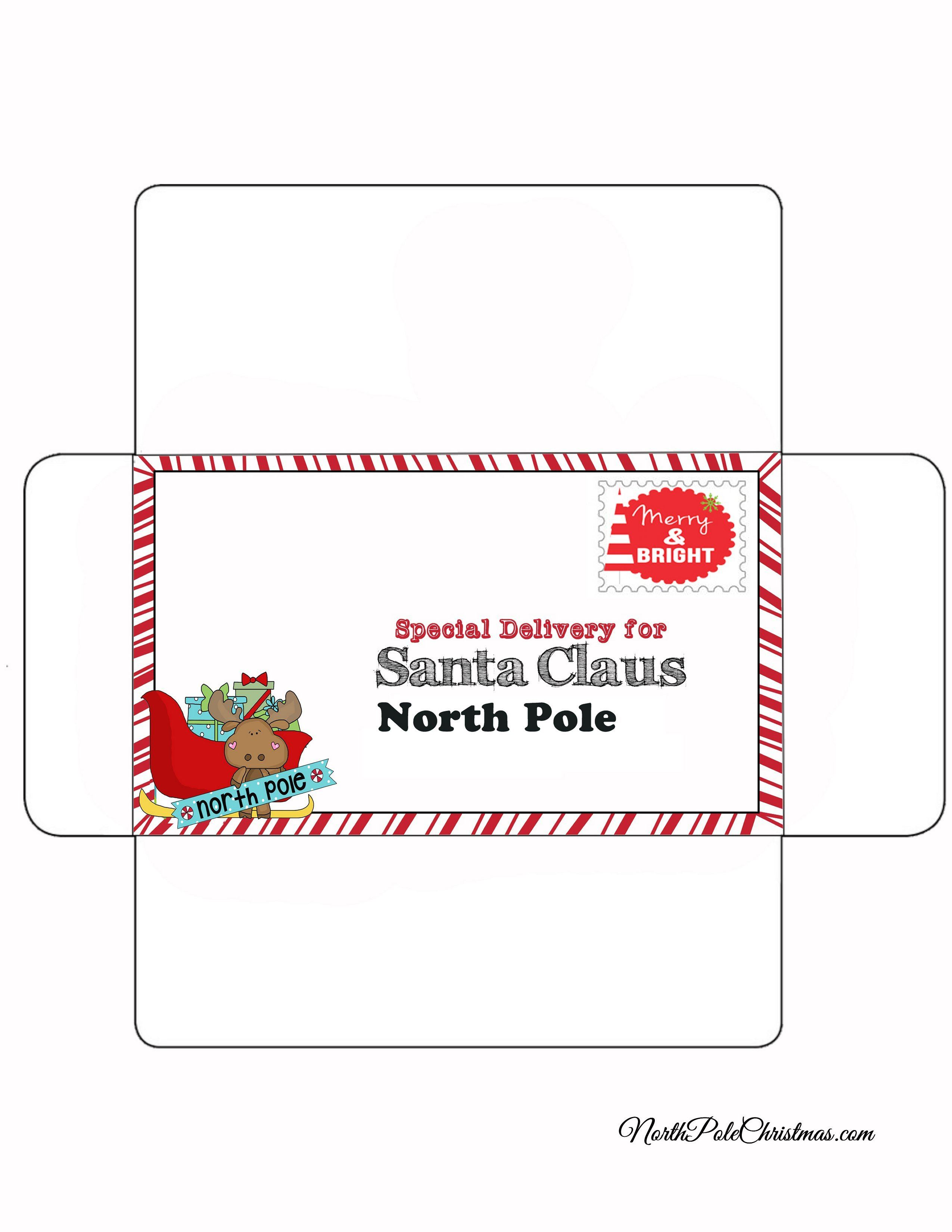 photograph regarding Printable Santa Envelopes known as Unique Shipping and delivery Envelope for Letter in the direction of Santa