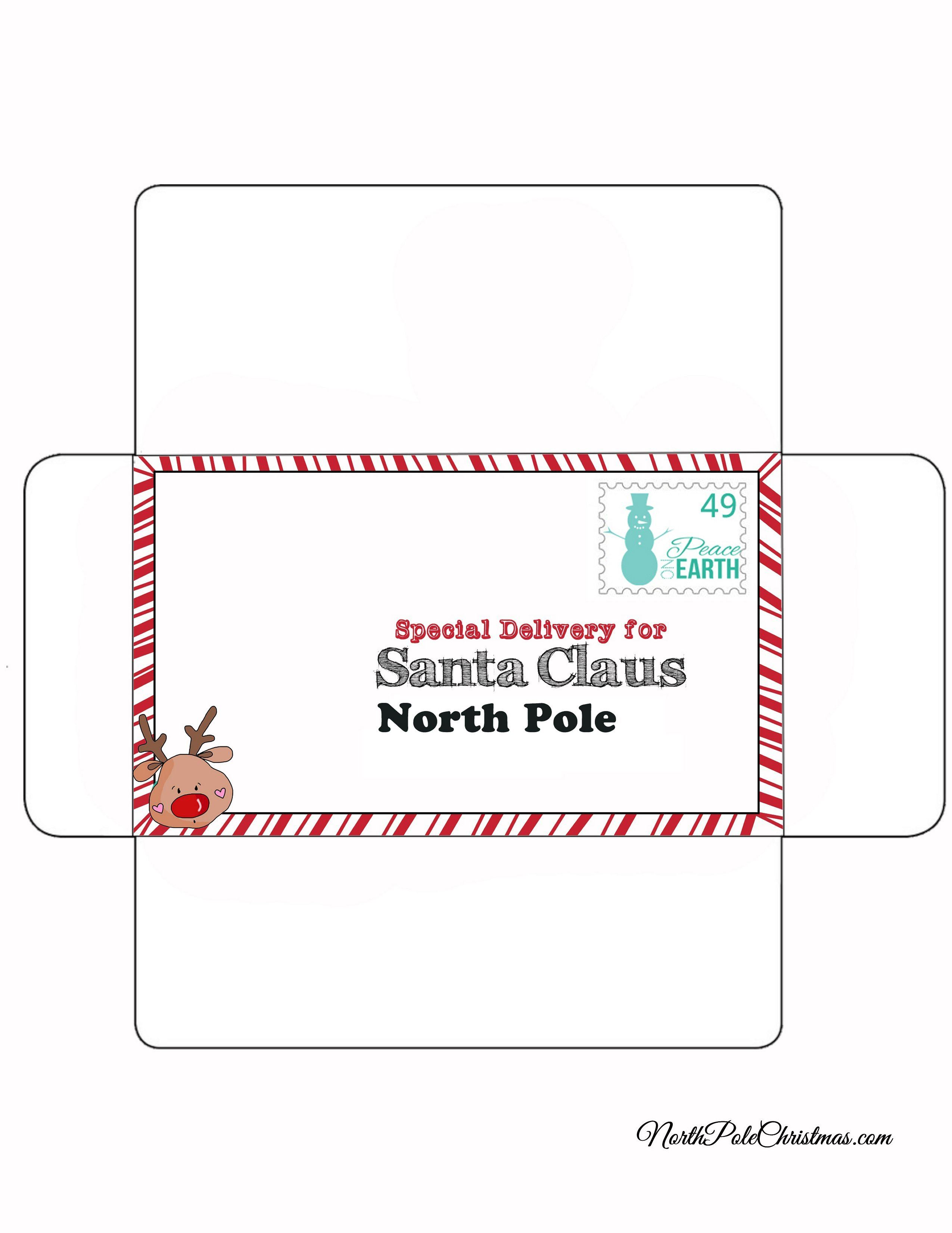 photo relating to Printable Santa Envelopes identify Letter in direction of Santa Printable Envelope - Distinctive Shipping toward Santa