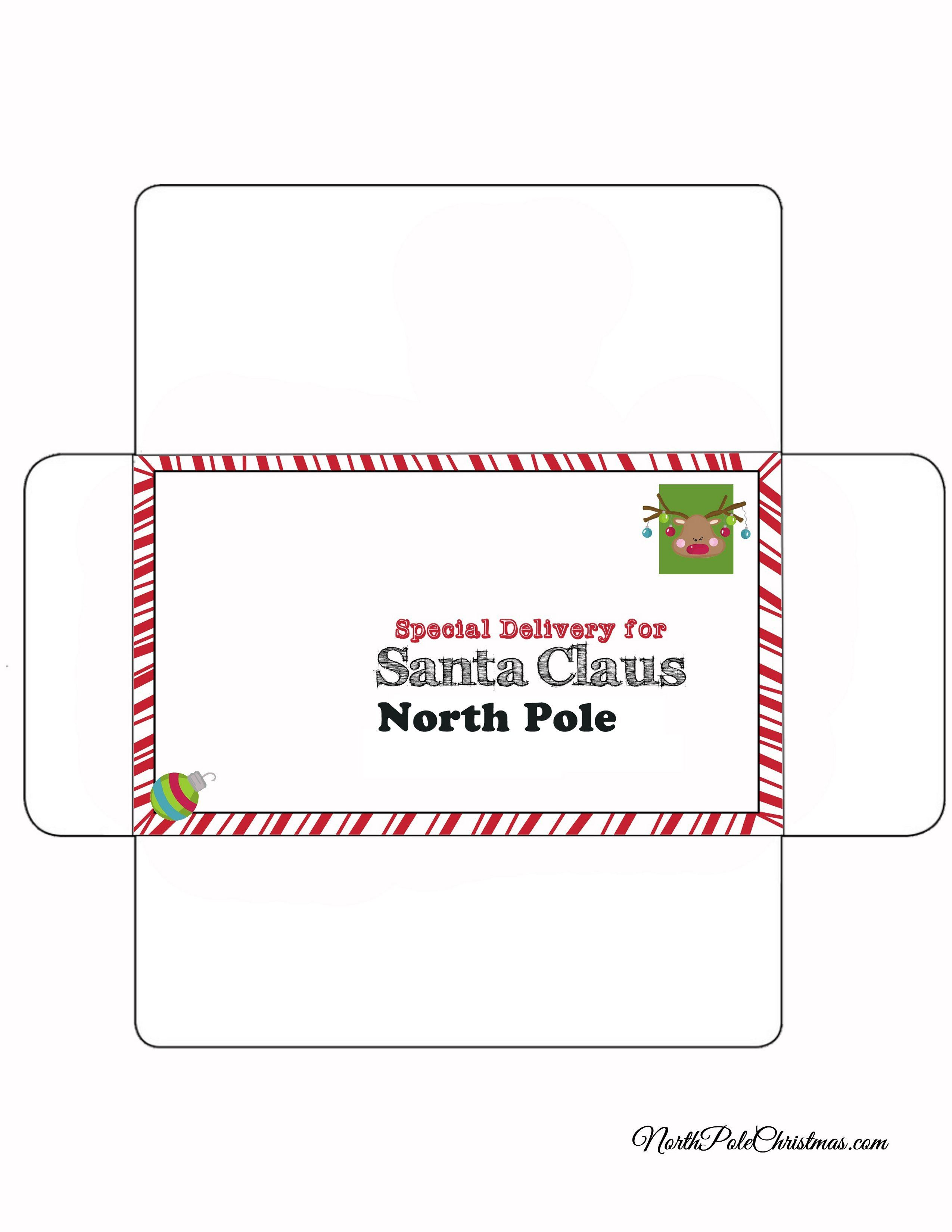 Rudolph Stamp - Letter to Santa Envelope