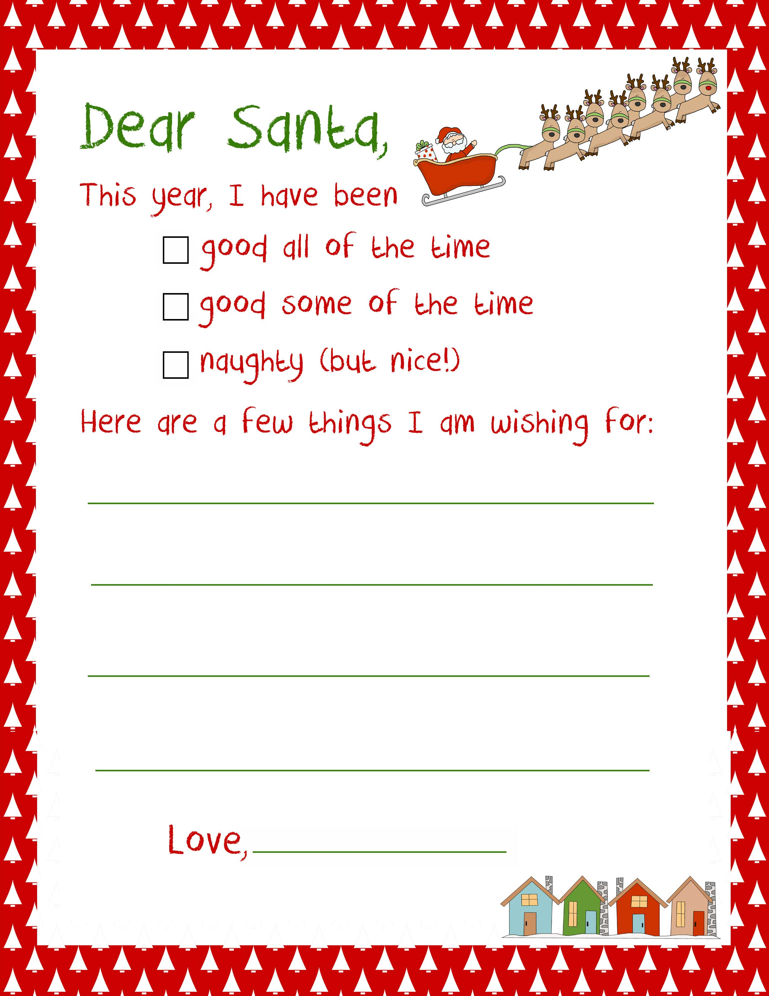 Printable Letter to Santa - NorthPoleChristmas.com