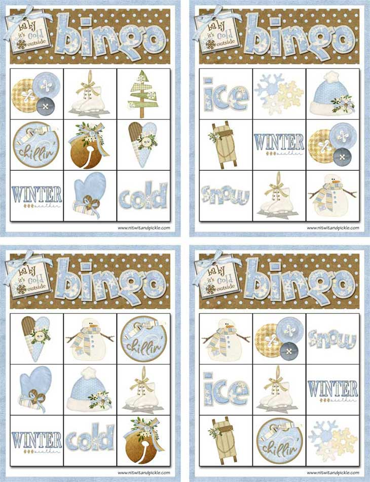 Winter Bingo - Card Set 3
