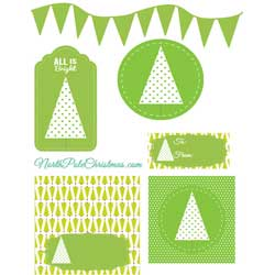 Bright Pastel Christmas Printables