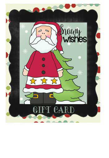 Chalkboard Christmas Gift Cards to Print