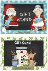 A Chalkboard Christmas! Chalkboard Hang Tags, Labels, Gift Cards + Envelopes, Christmas Cards, Gift Tags
