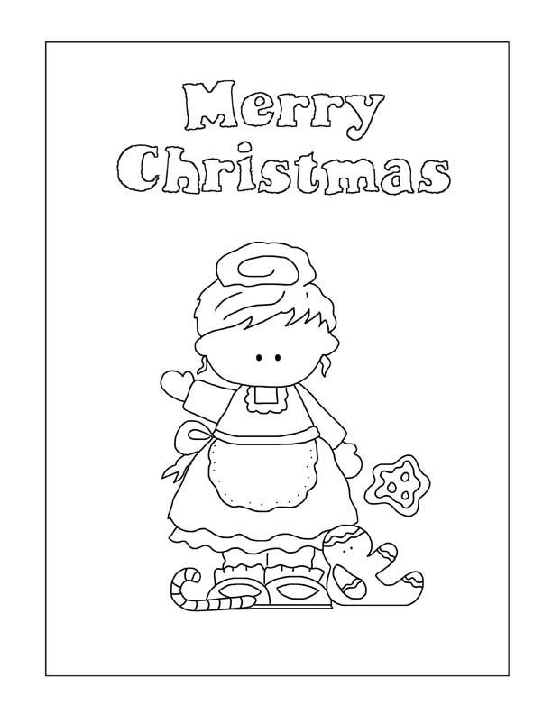 Mrs Santa Coloring Page