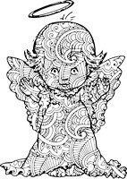 Sweet Angel Coloring Page