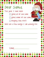 20 Letters to Santa + envelopes