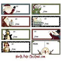 Printable Christmas Tags and Labels