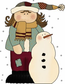 Girl with Snowman Pattern