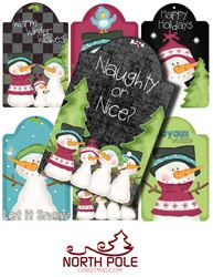 Christmas Tags Including Chalkboard Tags