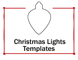 Christmas Lights Template