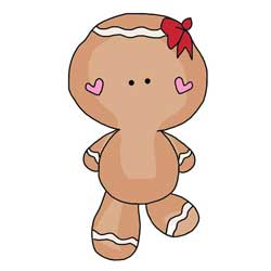 Gingerbread Girl Clip Art or Paper Doll
