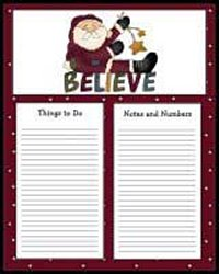 Santa Claus To Do Lists - Printable