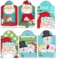 Santa Claus Hang Tags