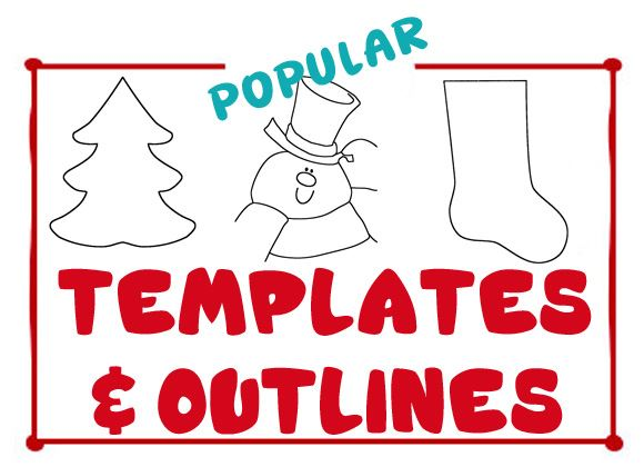 Christmas Templates & Christmas Outlines - Black and White Christmas