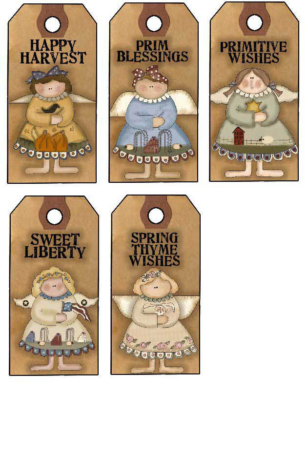 Angel Gift Tags - Hang Tags to Print