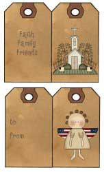 Primitive Gift Tags