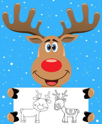 picture about Reindeer Template Printable referred to as Reindeer Template - 14 Totally free Designs for Reindeer, Slash Out