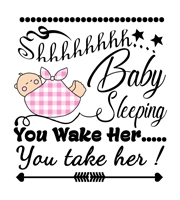 Baby Quotes - Baby sleeping you wake her you take her
