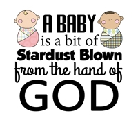 Baby Quotes - A baby is a bit of stardust blown from the hand of God
