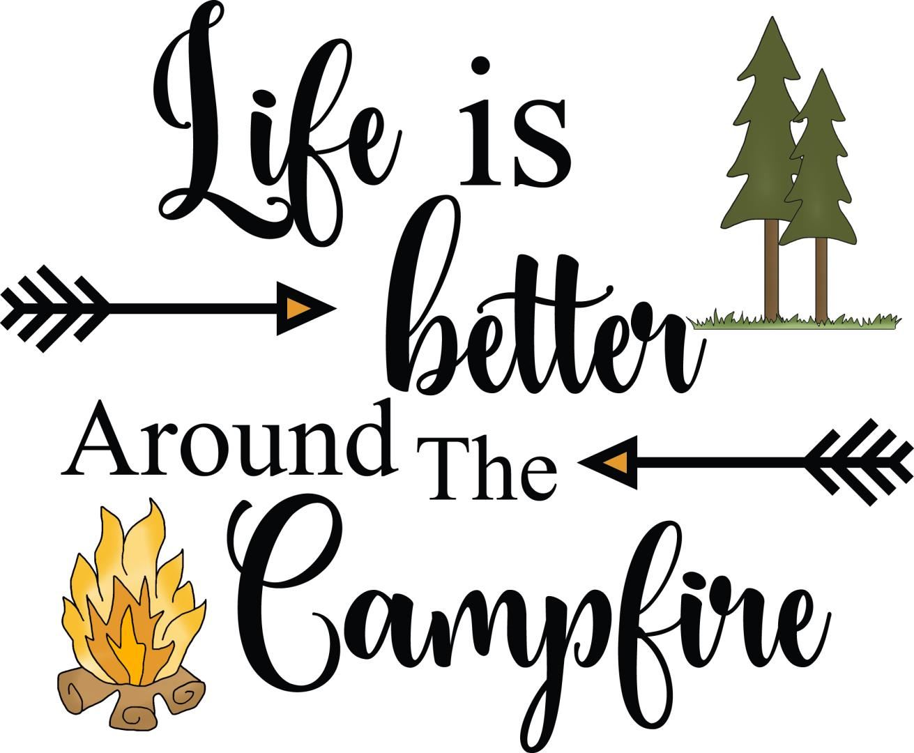 Camping Sign - Life is Better Around The Campfire