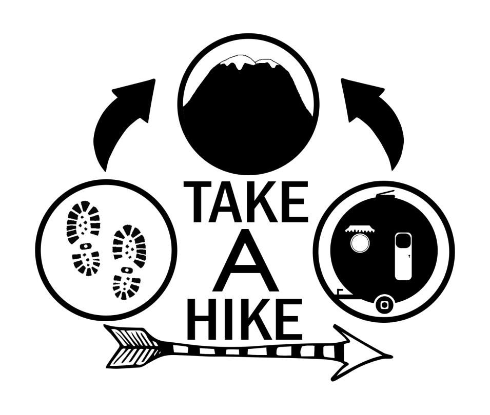Camping Sign - Take A Hike - Printable Illustrated Hiking Sign