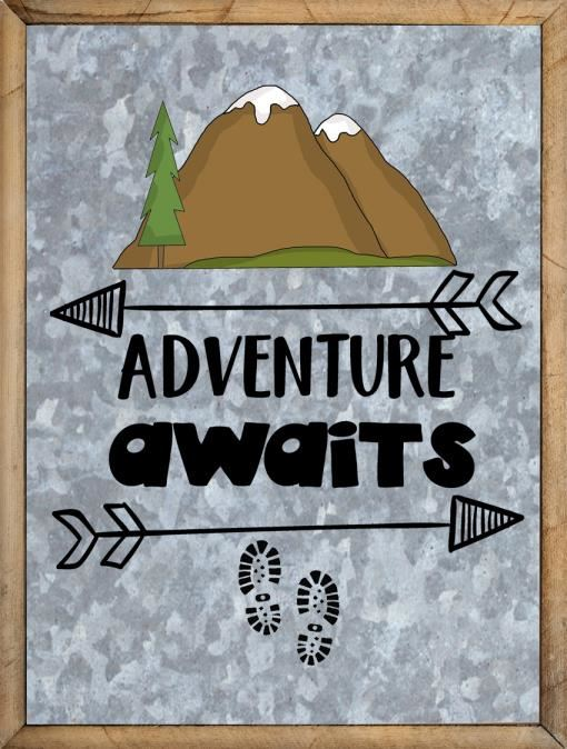 Best Adventure Sayings - Adventure Awaits Mountain