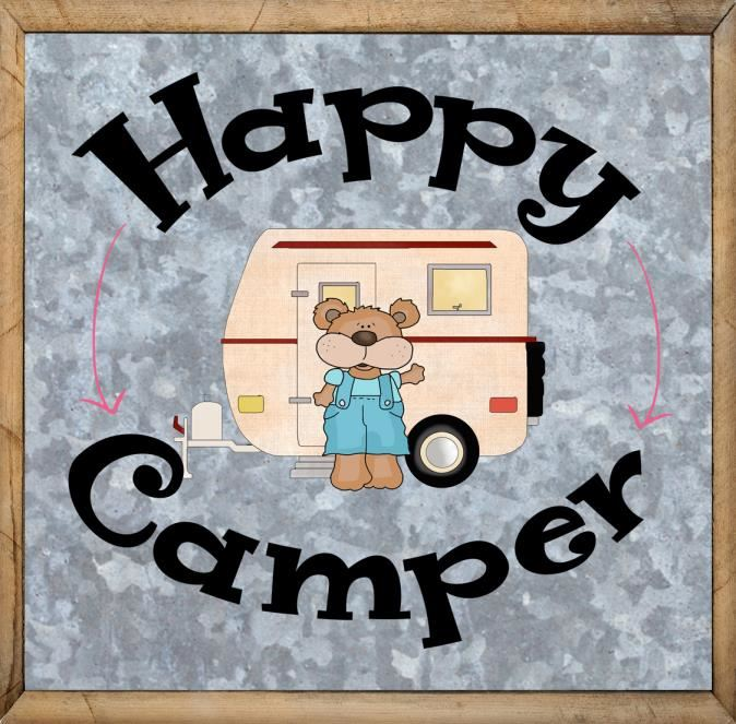 Happy Camper Saying - Printable Free Camping Sign