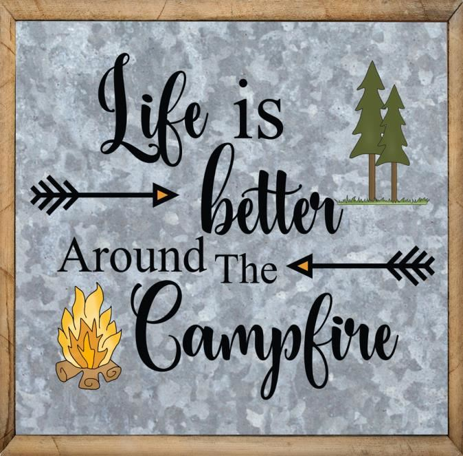 Outdoor Quotes - Life is Better Around The Campfire