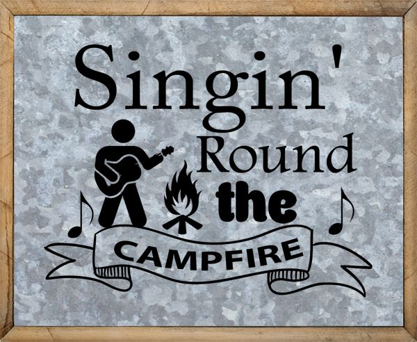 Camping Sign - Campfire Graphics - Singin' Round Campfire