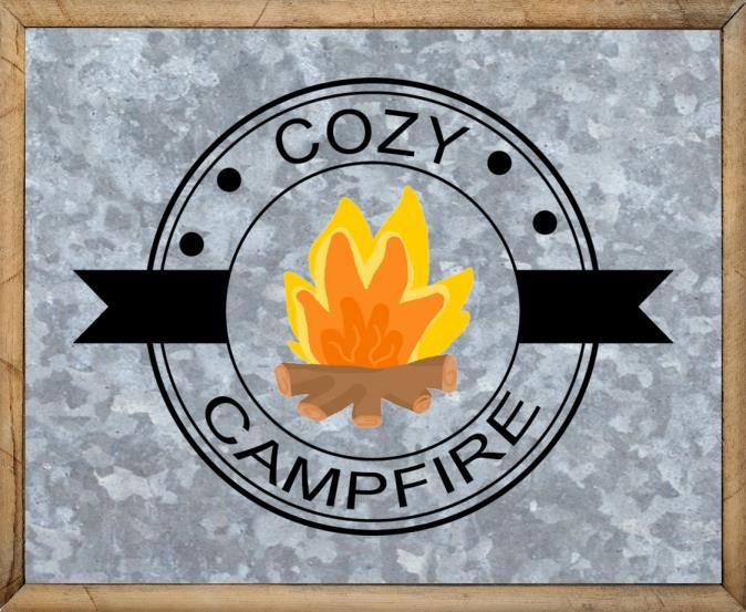 Camping Sayings - Free Metal Campfire Sign - Cozy Campfire