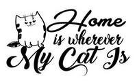 Cat Home Saying