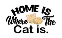 Cat Home Graphic