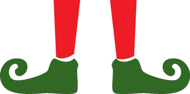 Popular Elf Legs Template – Clipart of Red & Green Elf Legs