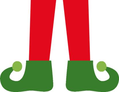 Elf Legs Color Template - Charming Download, Print Elf Legs