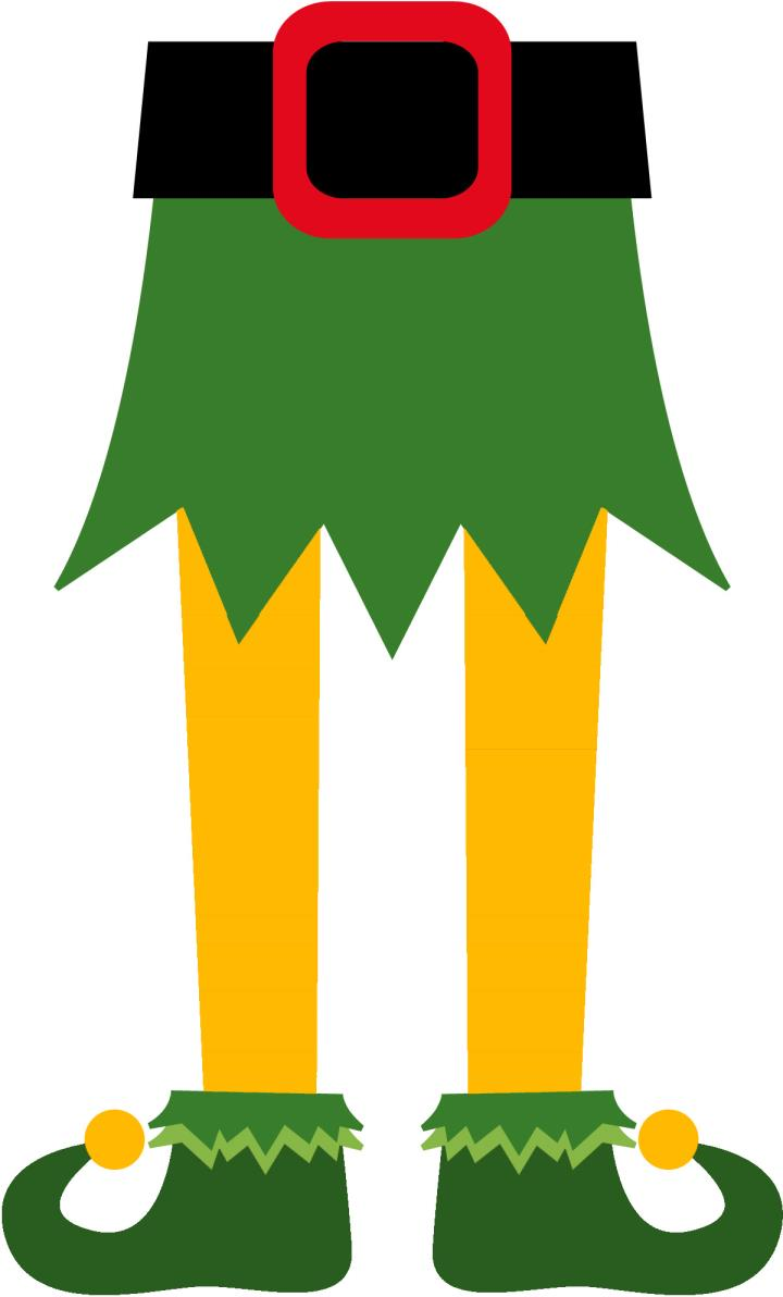Elf Legs, Curly-Toed Elf Shoes, Bottom Half of Elf Clipart