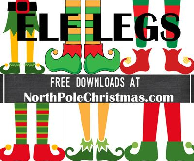 17 Elf Leg Images at NorthPoleChristmas.com - Free Downloads / Printables