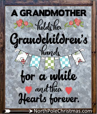Grandma Quotes, 21 Clever Grandma Sayings, JPG or SVG at NorthPoleChristmas.com