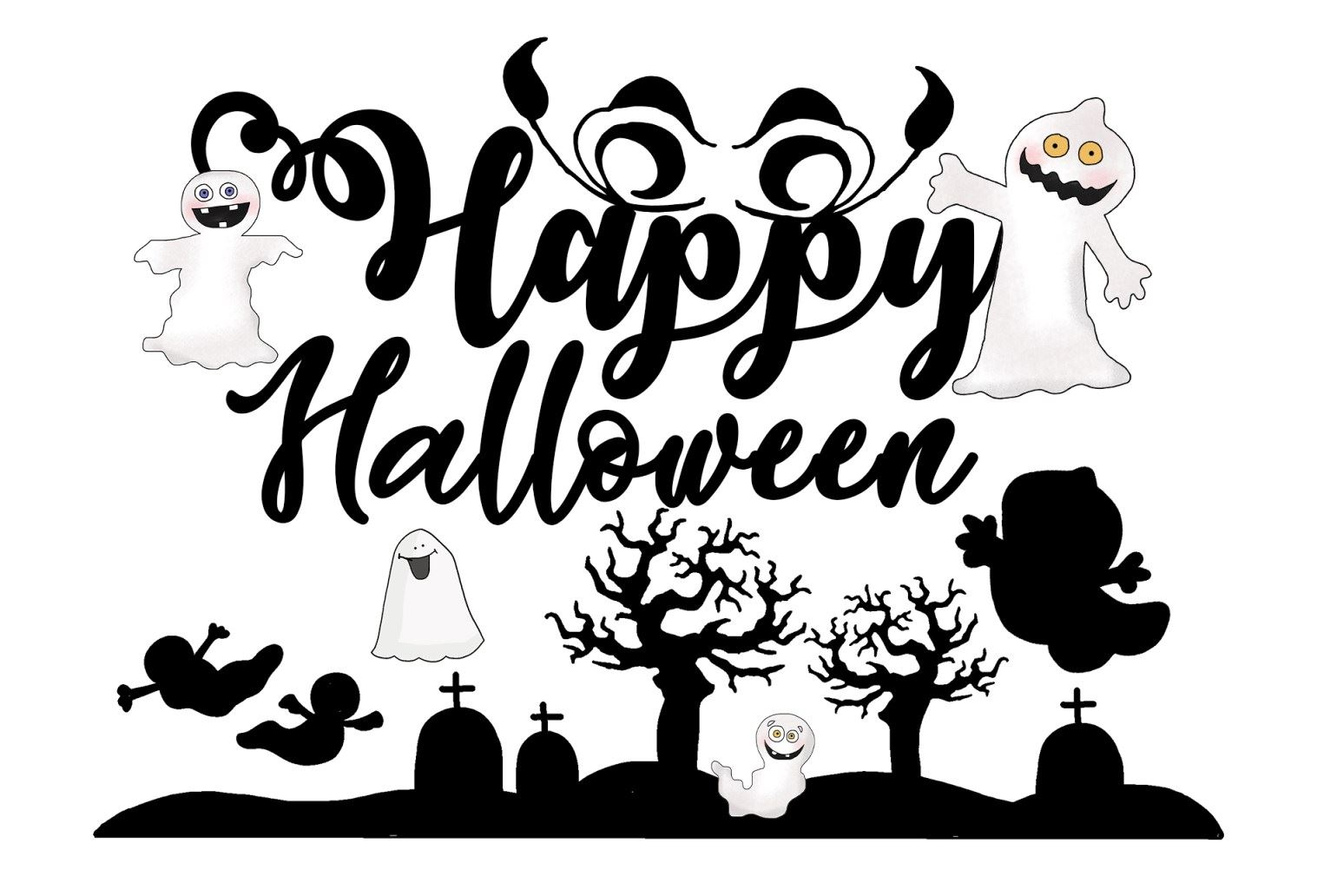 It is a graphic of Happy Halloween Signs Printable within door