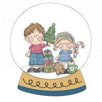 Brother Sister Snow Globe