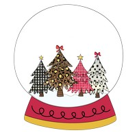 Four Trees Snow Globe