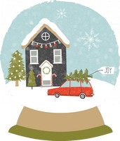 House Car Snow Globe