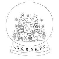 Mega Santa Black And White Snow Globe